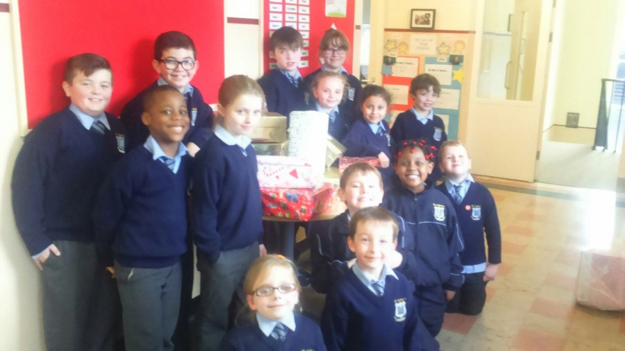 Our Shoeboxes for Team Hope!