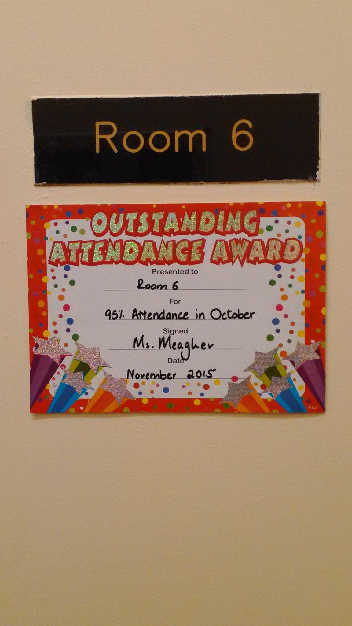 Best attendance in October!