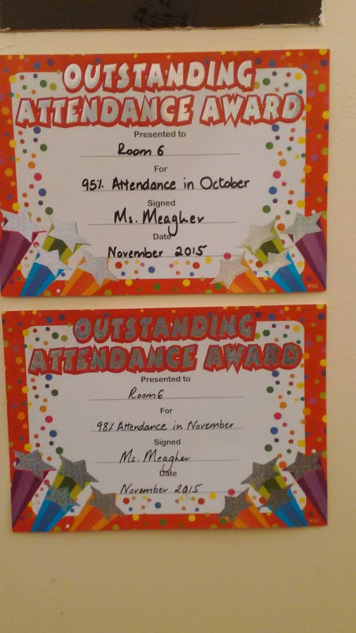Room 6- Best Attendance for November