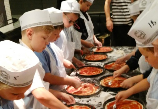 Pizza Making with 5th Class